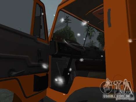 KAMAZ 53215 para GTA San Andreas vista interior