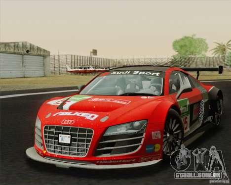 Audi R8 LMS v2.0.1 para GTA San Andreas traseira esquerda vista