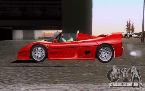 Ferrari F50 v1.0.0 1995 para GTA San Andreas esquerda vista