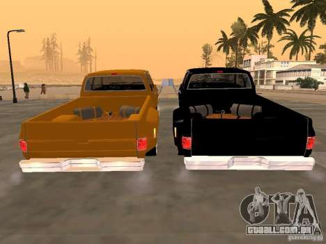 Chevrolet Silverado Lowrider para GTA San Andreas vista direita