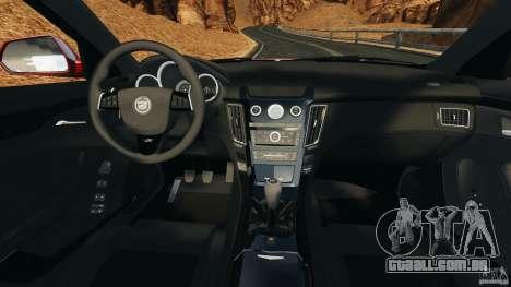 Cadillac CTS-V 2009 para GTA 4 vista de volta