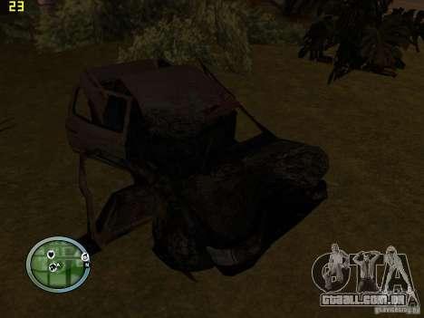Carros quebrados na Grove Street para GTA San Andreas terceira tela