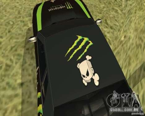 Monster Energy Vinyl para GTA San Andreas vista traseira