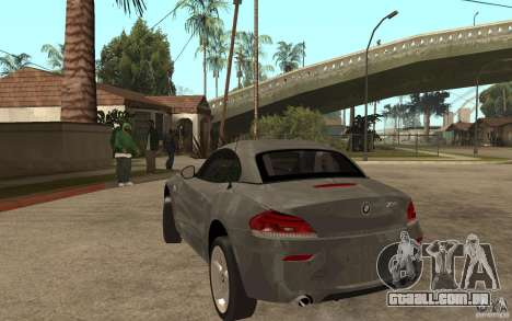 BMW Z4 sdrive35is 2011 para GTA San Andreas traseira esquerda vista