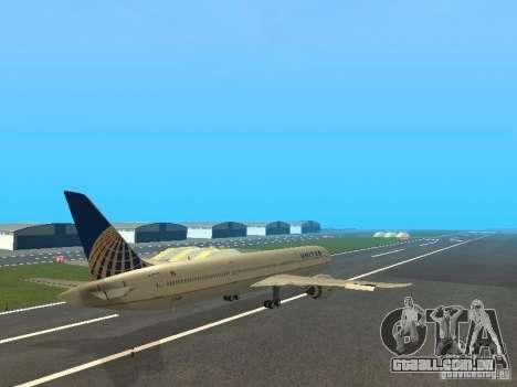 Boeing 787 Dreamliner United Airlines para GTA San Andreas vista direita