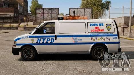 Polícia Speedo para GTA 4 esquerda vista