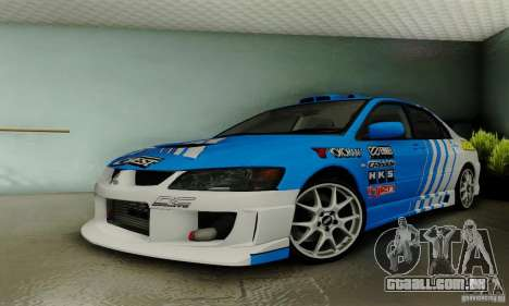 Mitsubishi Lancer Evolution 8 Tuneable para GTA San Andreas