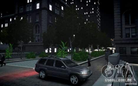 Jeep Grand Cheroke para GTA 4 vista lateral