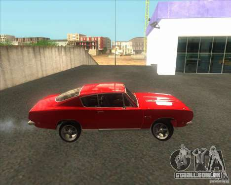Plymouth Barracuda 1968 para GTA San Andreas vista traseira
