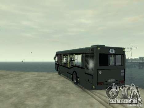 MAZ 103 ônibus para GTA 4 traseira esquerda vista
