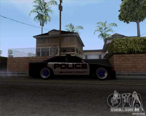 Toyota Chaser jzx100 Drift Police para GTA San Andreas vista traseira