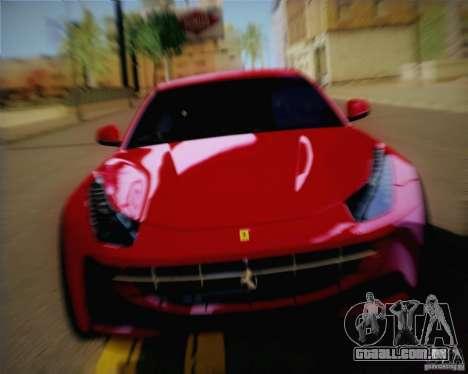 Ferrari FF Sport 2011 para GTA San Andreas traseira esquerda vista