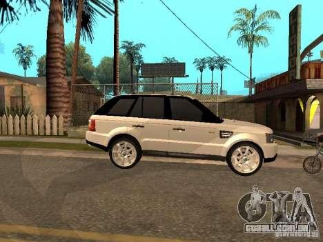 Range Rover Sport para GTA San Andreas traseira esquerda vista
