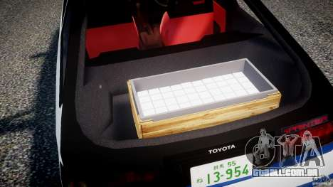 Toyota Trueno AE86 Initial D para GTA 4 vista inferior