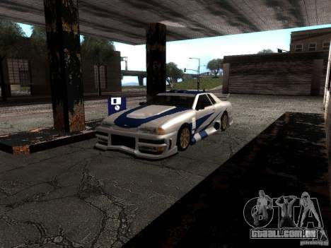 Vinil com o BMW M3 GTR em Most Wanted para GTA San Andreas esquerda vista