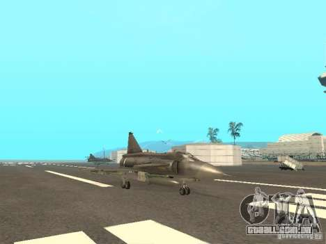Saab JA-37 Viggen para GTA San Andreas traseira esquerda vista