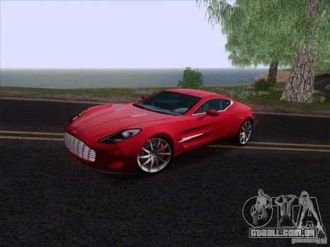 Aston Martin One-77 2010 para GTA San Andreas traseira esquerda vista