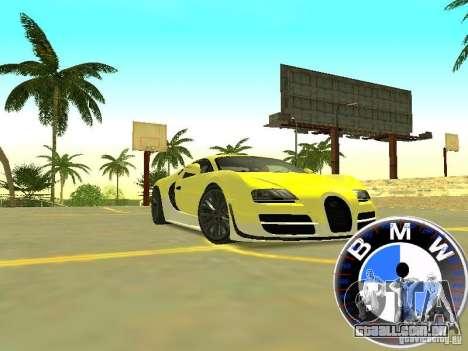 BMW velocímetro para GTA San Andreas segunda tela