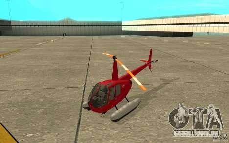 Robinson R44 Clipper II 1.0 para GTA San Andreas esquerda vista