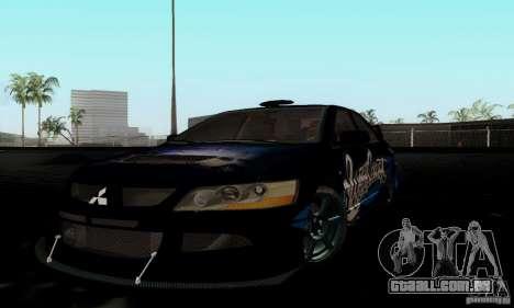 Mitsubishi Lancer Evolution IX para GTA San Andreas vista traseira