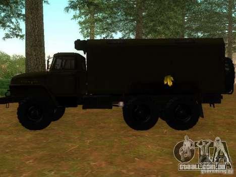 Ural 4320 Kung para GTA San Andreas esquerda vista