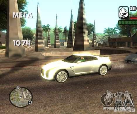 Discos em qualquer lugar para GTA San Andreas terceira tela