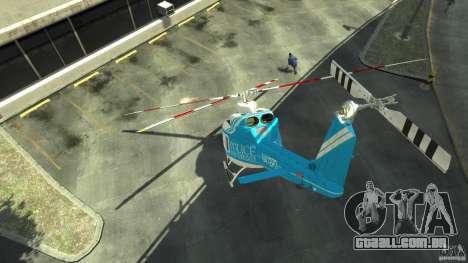 NYPD Bell 412 EP para GTA 4 vista direita