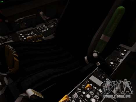 F-16C Warwolf para GTA San Andreas vista inferior