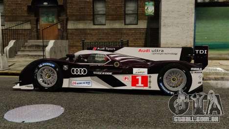 Audi R18 TDI v2.0 para GTA 4 esquerda vista