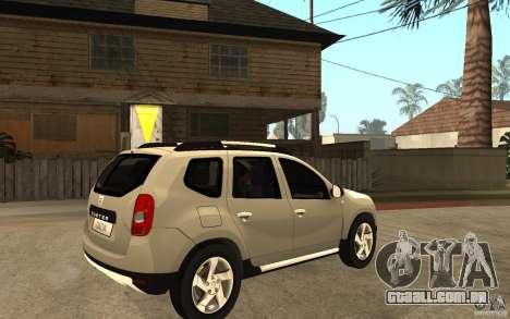Dacia Duster 2010 SUV 4x4 para GTA San Andreas vista direita