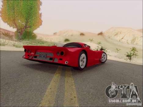 Nissan R390 Road Car v1.0 para GTA San Andreas traseira esquerda vista