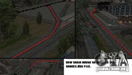 Ativação (novas rotas para trens) para GTA San Andreas