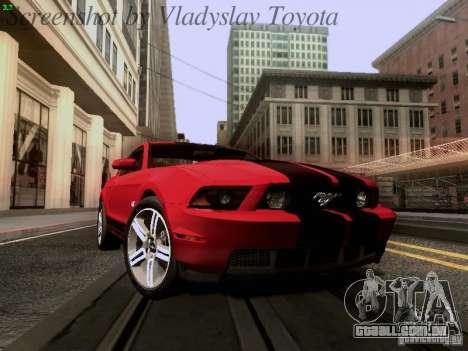 Ford Mustang GT 2011 para GTA San Andreas vista interior