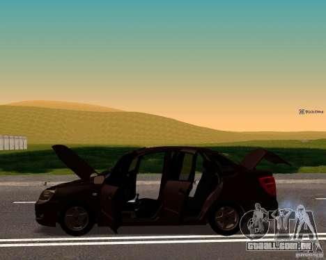 Dreno de 2190 VAZ para GTA San Andreas traseira esquerda vista