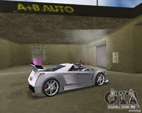Cadillac Cien Shark Dream TUNING para GTA Vice City vista traseira esquerda