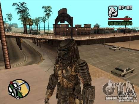 Predador Predator (a máscara) para GTA San Andreas terceira tela