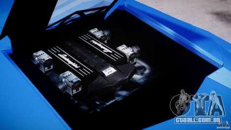 Lamborghini Reventon Polizia Italiana para GTA 4 vista lateral
