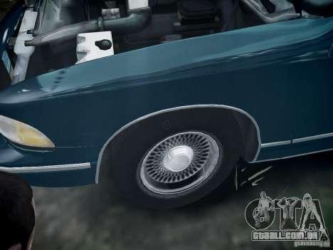 Chevrolet Caprice 1993 Rims 2 para GTA 4 vista de volta