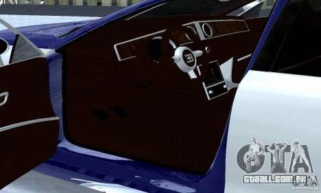 Bugatti Galibier 16c para GTA San Andreas vista interior