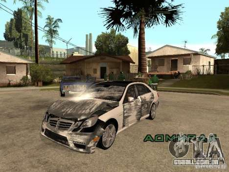 Mercedes-Bens e63 AMG para GTA San Andreas vista traseira
