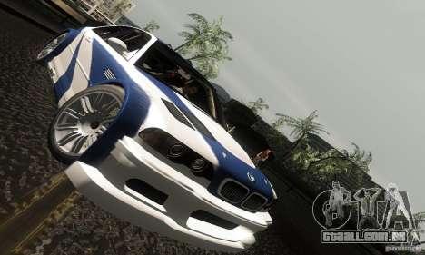 BMW M3 GTR para GTA San Andreas vista superior