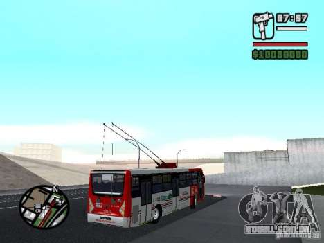 Caio Millennium TroleBus para GTA San Andreas vista direita