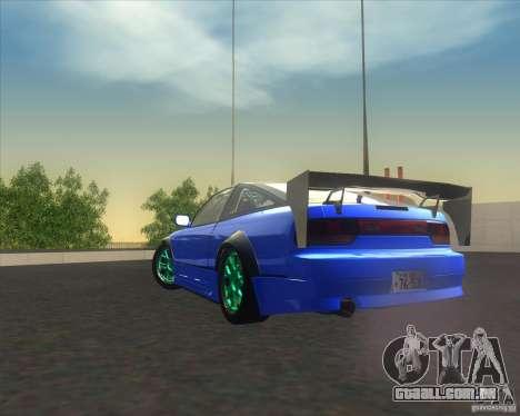 Nissan 240SX for drift para GTA San Andreas vista traseira