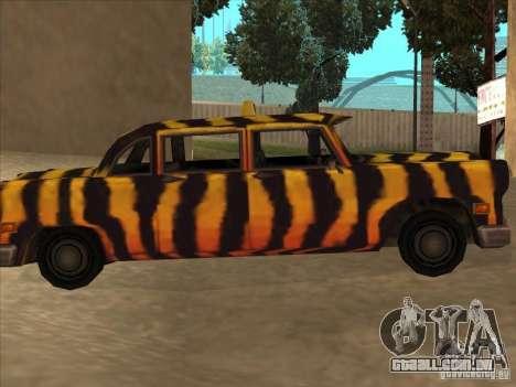Zebra Cab de Vice City para GTA San Andreas esquerda vista