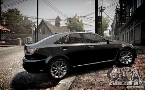 Lexus IS-F para GTA 4 esquerda vista