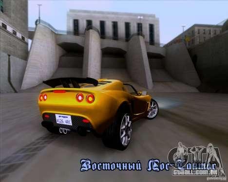 Lotus Exige para GTA San Andreas interior