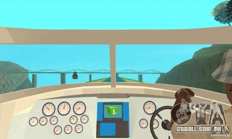 Speed Motorboat para GTA San Andreas vista direita