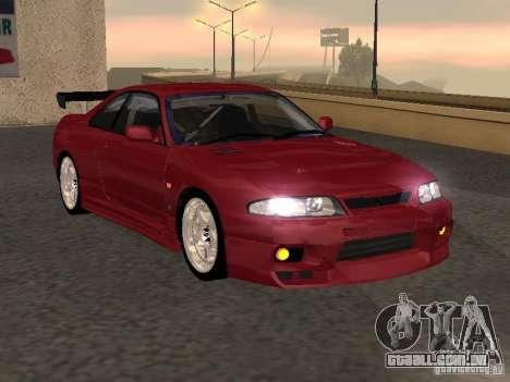 Nissan Skyline GT-R BCNR 33 para GTA San Andreas traseira esquerda vista