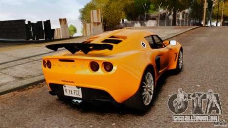 Lotus Exige 240 CUP 2006 para GTA 4 traseira esquerda vista