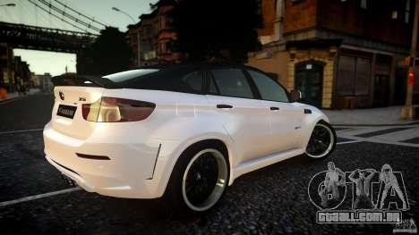 BMW X 6 Hamann para GTA 4 traseira esquerda vista